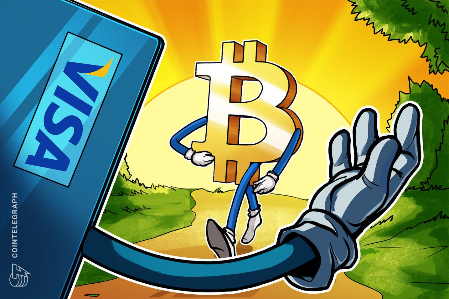 Visa aprova cartão de gastos com Bitcoin para a startup australiana CryptoSpend