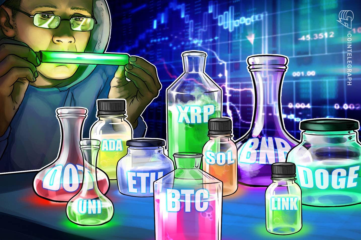 Анализ на цените 9/6: BTC, ETH, ADA, BNB, XRP, SOL, DOGE, DOT, UNI, LINK
