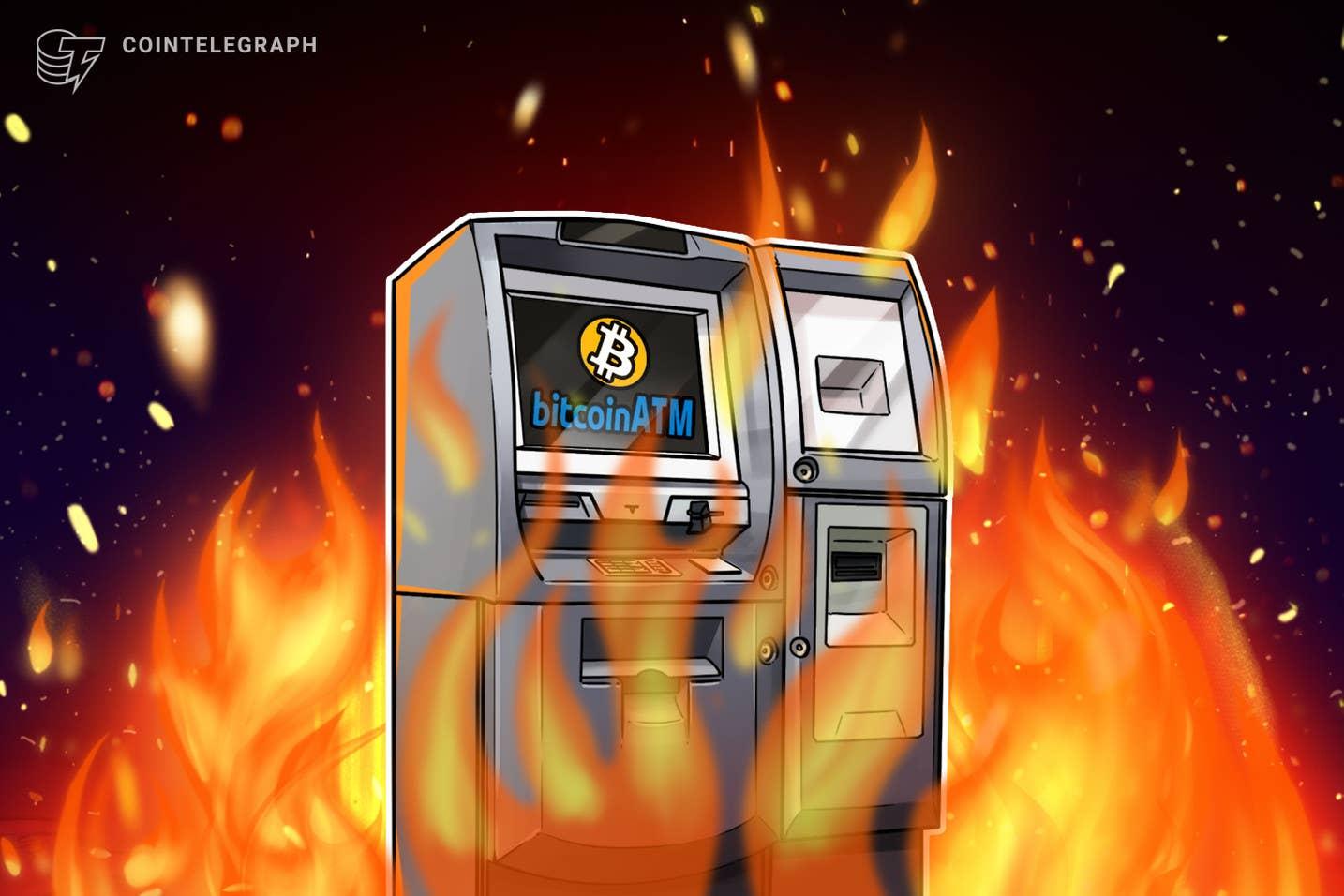 Manifestantes queimam ATM Bitcoin como parte da manifestação contra o presidente de El Salvador