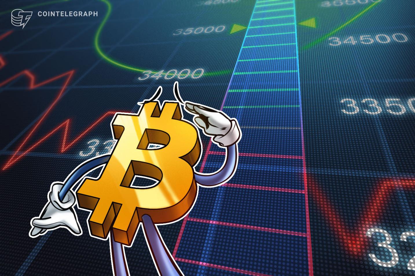 Harga Bitcoin mencapai $34K karena pedagang memperkirakan pertarungan resistensi akhir pekan yang baru