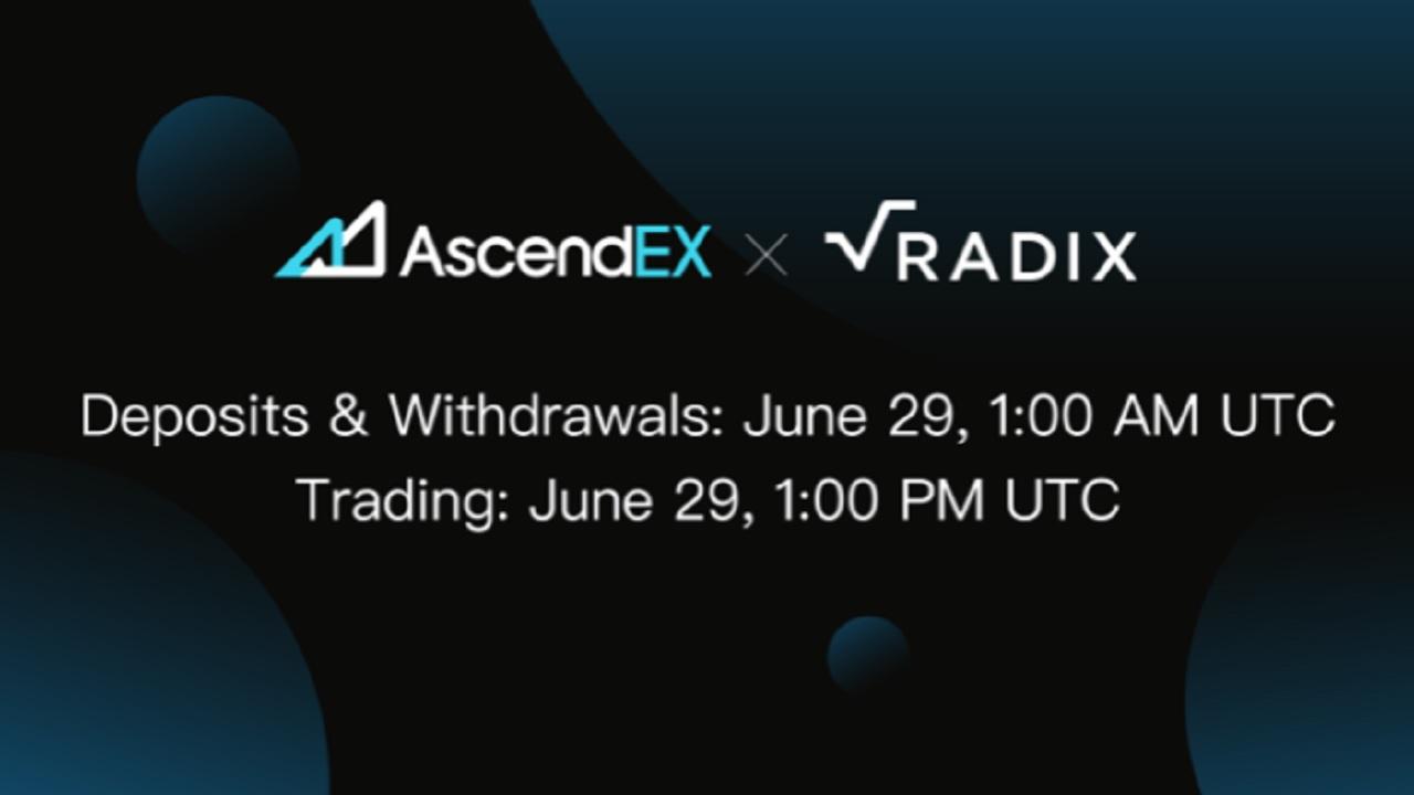 AscendEX geeft een overzicht van Radix - een DeFi-protocol met incentives voor ontwikkelaars