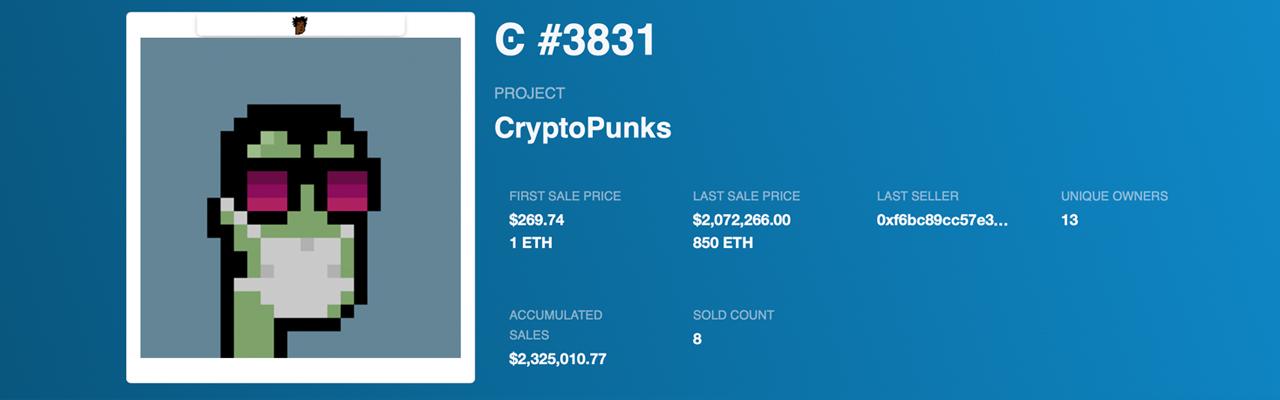 Cryptopunk -ägare hoppas kunna sälja punk för 91 miljoner dollar - Pixelated NFT Punks överträffar tävlingen