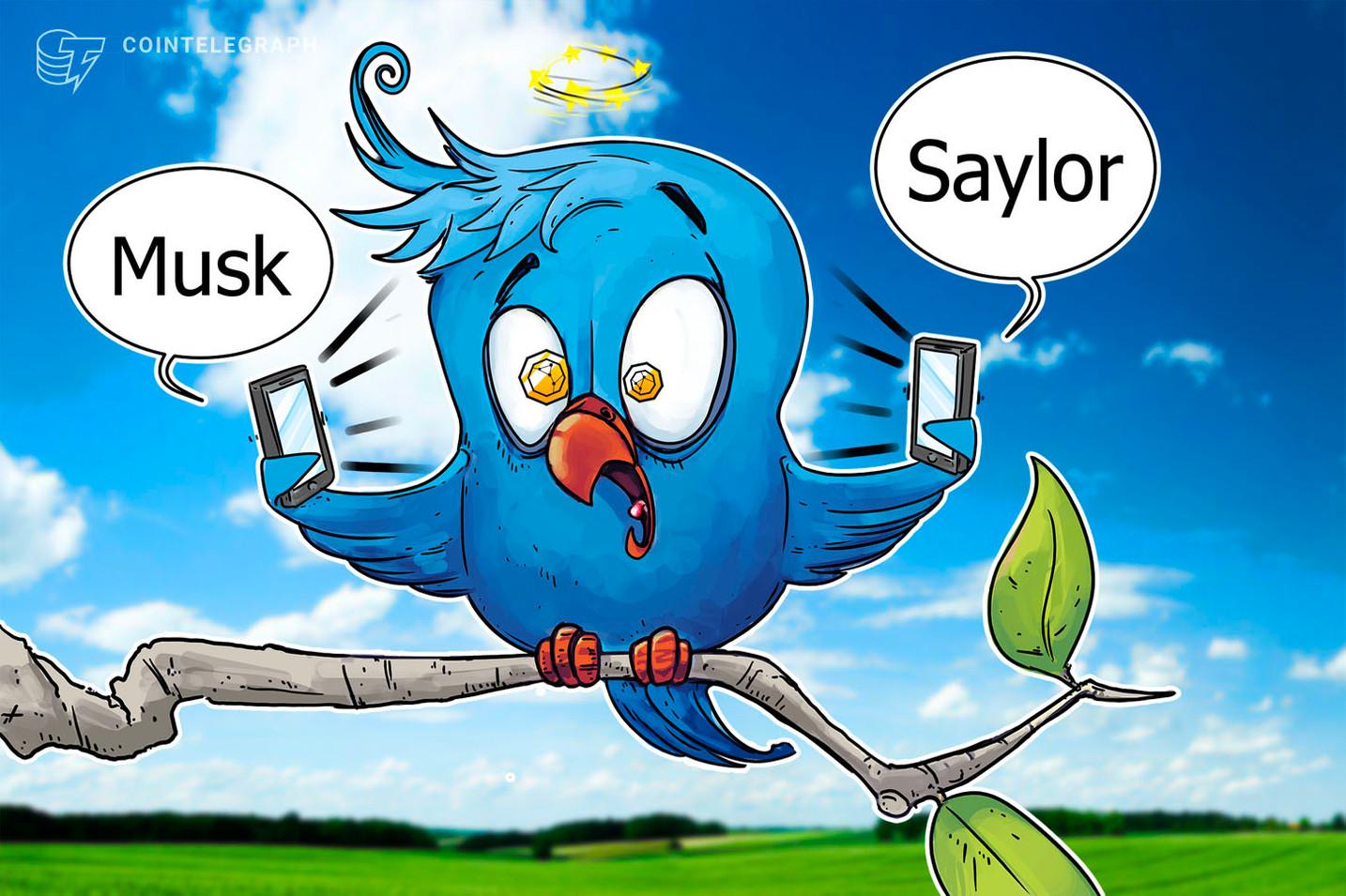 Tu je uvedené, koľko Muskových a Sayloriných tweetov ovplyvnili ceny kryptomien v 2. štvrťroku