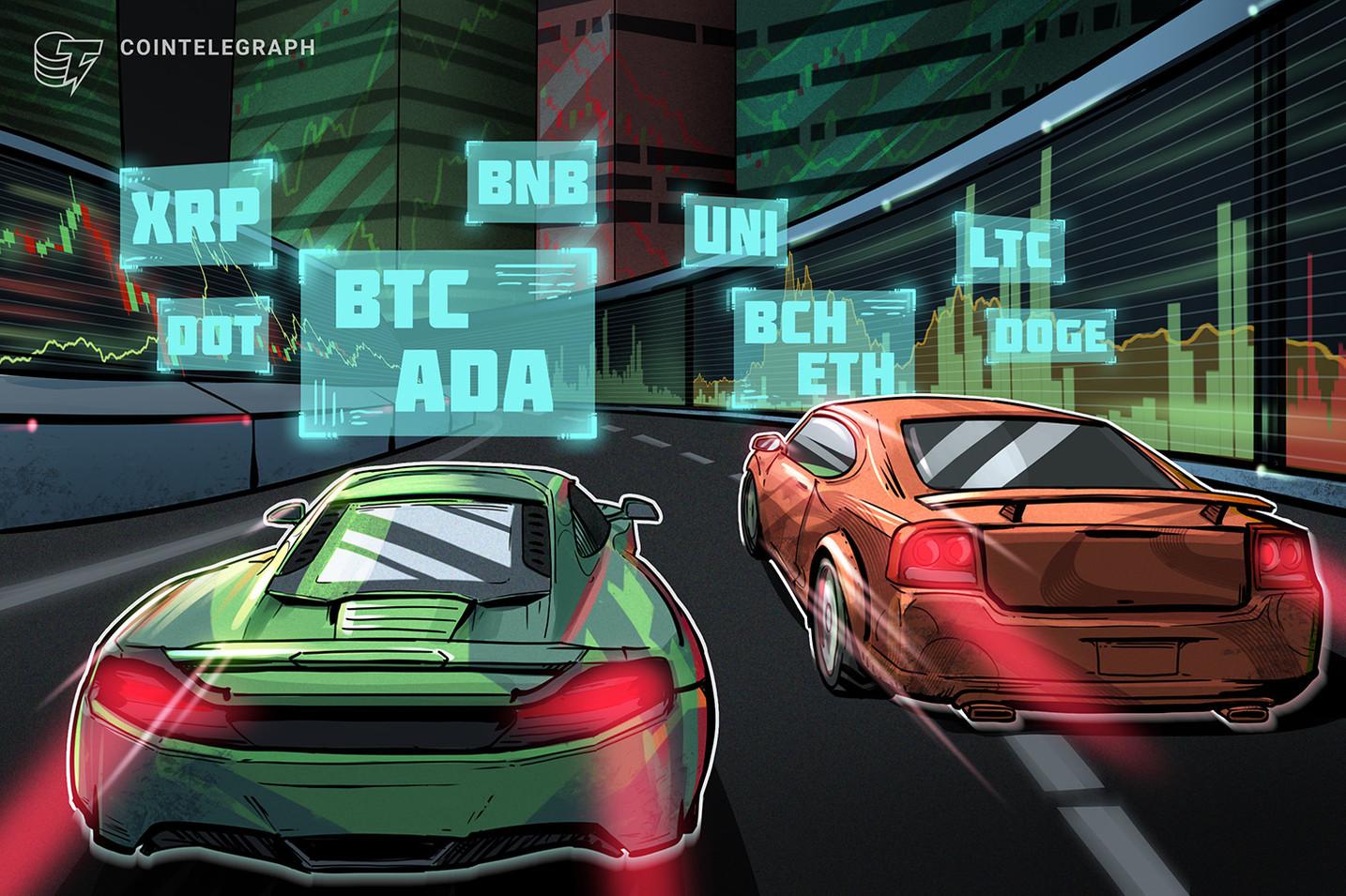 تحليل الأسعار 7/6: BTC، ETH، BNB، ADA، DOGE، XRP، DOT، UNI، BCH، LTC