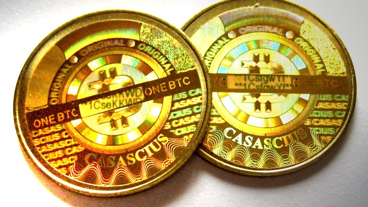 2 милиарда долара на стойност неочистени физически биткойни на Casascius: Остават активни по -малко от 20,000 XNUMX монети