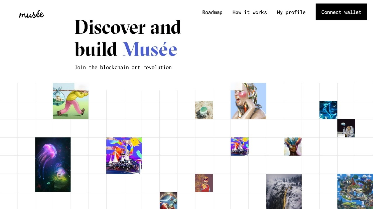 Musée - vartotojui priklausanti NFT prekyvietė ir galerija