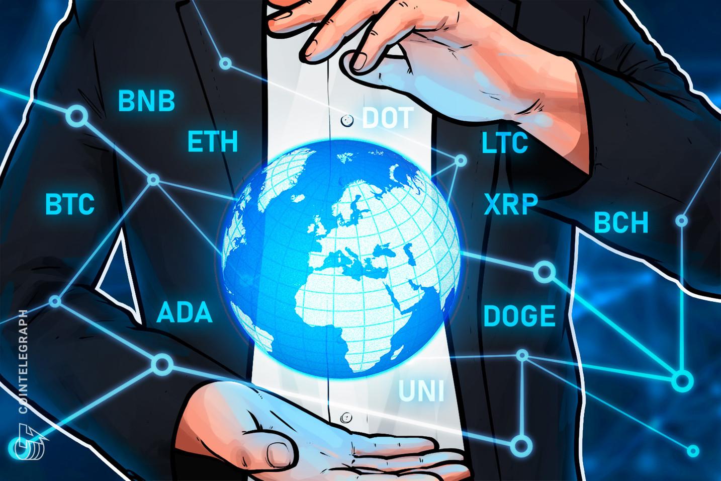 Cenu analīze 7/19: BTC, ETH, BNB, ADA, XRP, DOGE, DOT, UNI, BCH, LTC