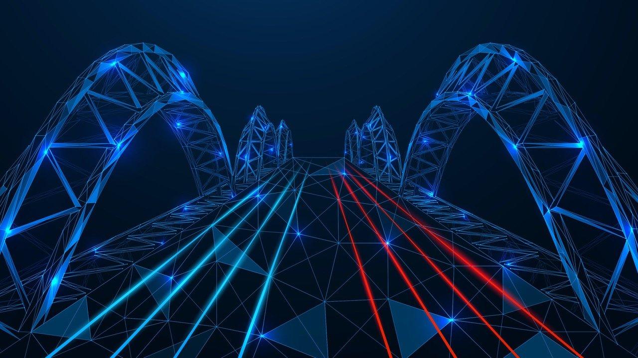 Pontes de cadeia cruzada que conectam 5 cadeias de blocos diferentes a Ethereum