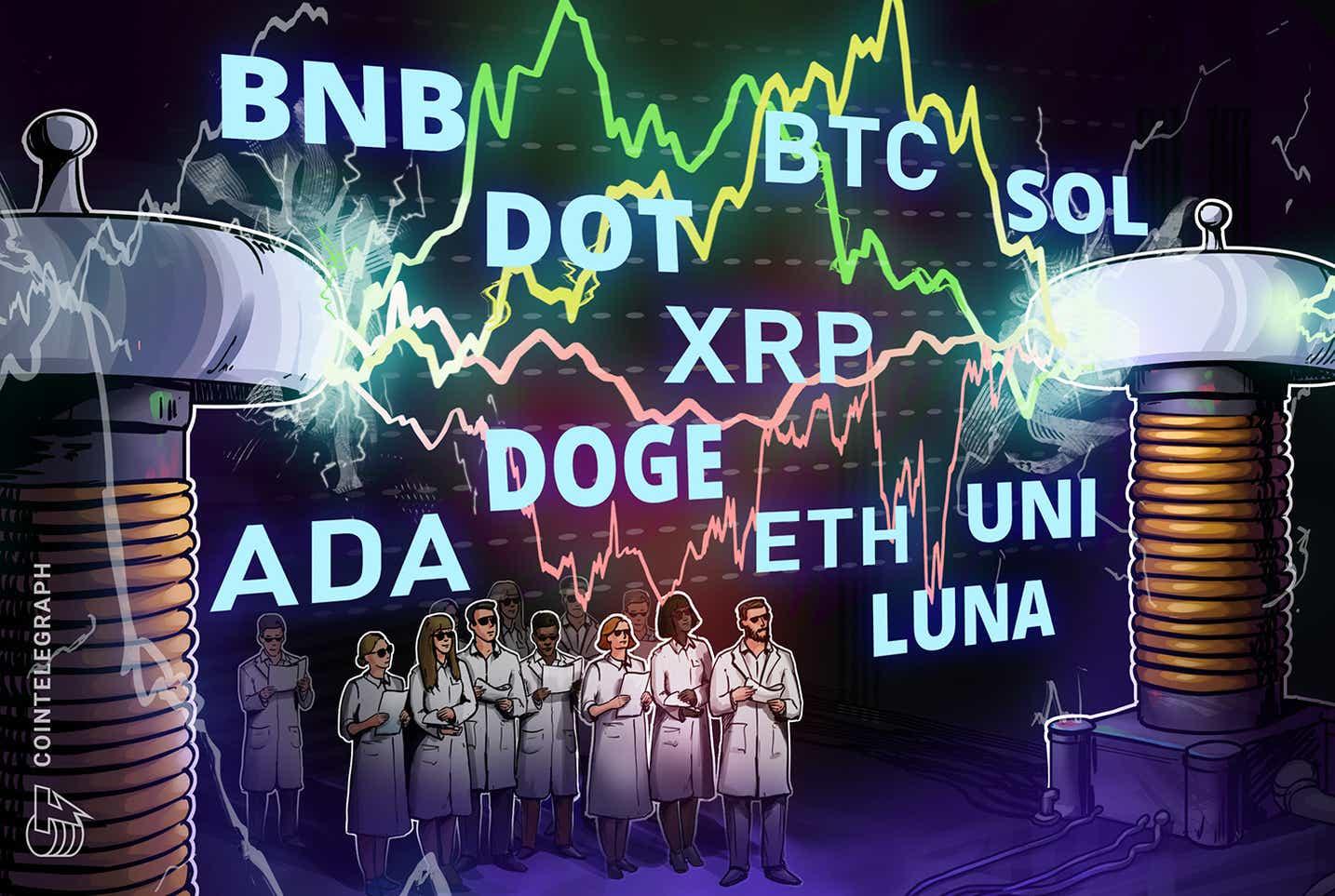 價格分析 10/13:BTC、ETH、BNB、ADA、XRP、SOL、DOGE、DOT、LUNA、UNI