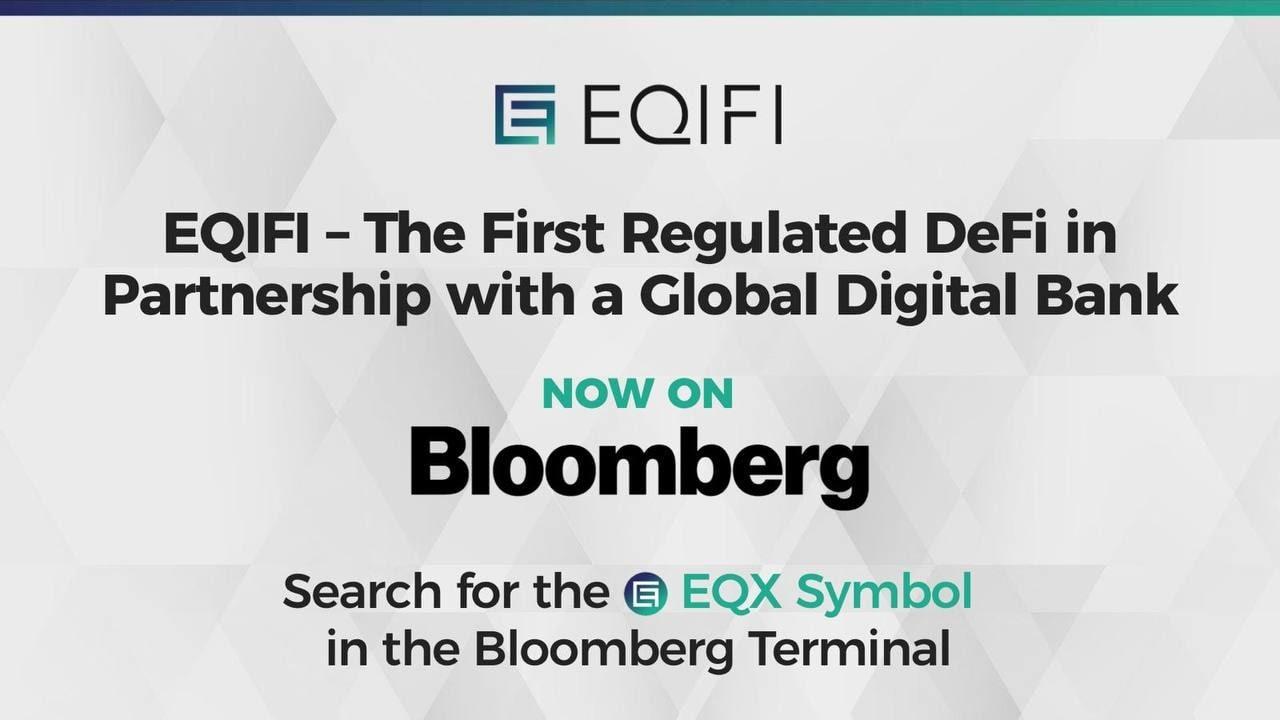 EQIFI, partnerstwo DeFi z globalnym bankiem już dostępne w terminalu Bloomberg